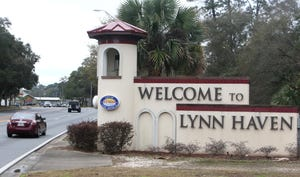 The entrance to the city of Lynn Haven.
