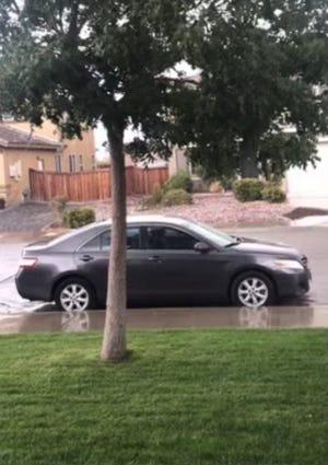 Roberta Benoit's gray Toyota Camry in an undated photo.