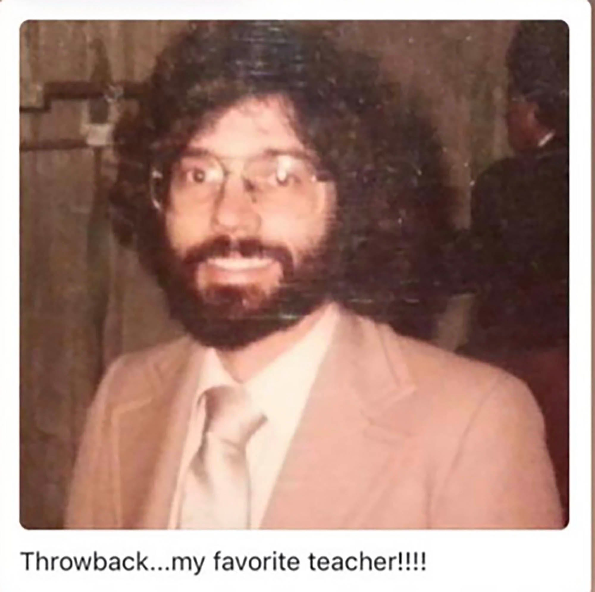 Christopher Holstein, as he looked in 1982 when he was a teacher and Academic Games coach at Longfellow Middle School in Detroit.  (Photo provided by Latrelle Pierre who was an eighth-grader at Longfellow at the time).