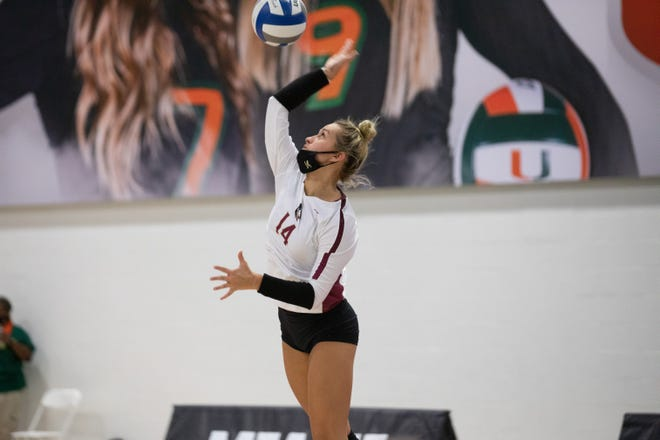 Caroline Golden has played a large role in FSU volleyball's recent winning form.