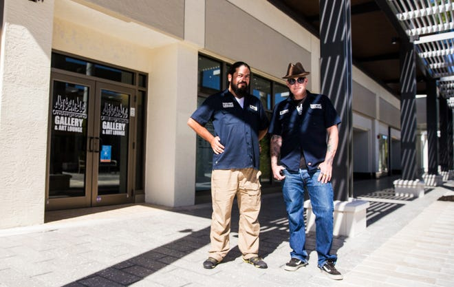 Cesar Aguilera, left, and Brian Weaver opened Artsemble Underground in the Bell Tower Shops.
