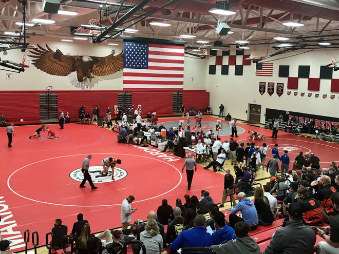 Marion Harding is hosting the Division III state wrestling championships Saturday and Sunday.