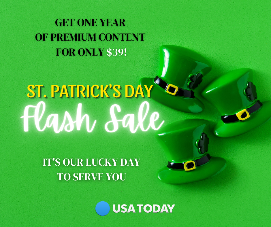 St. Patrick's Day Flash Sale: Special introductory price - $39 for 1 year 3