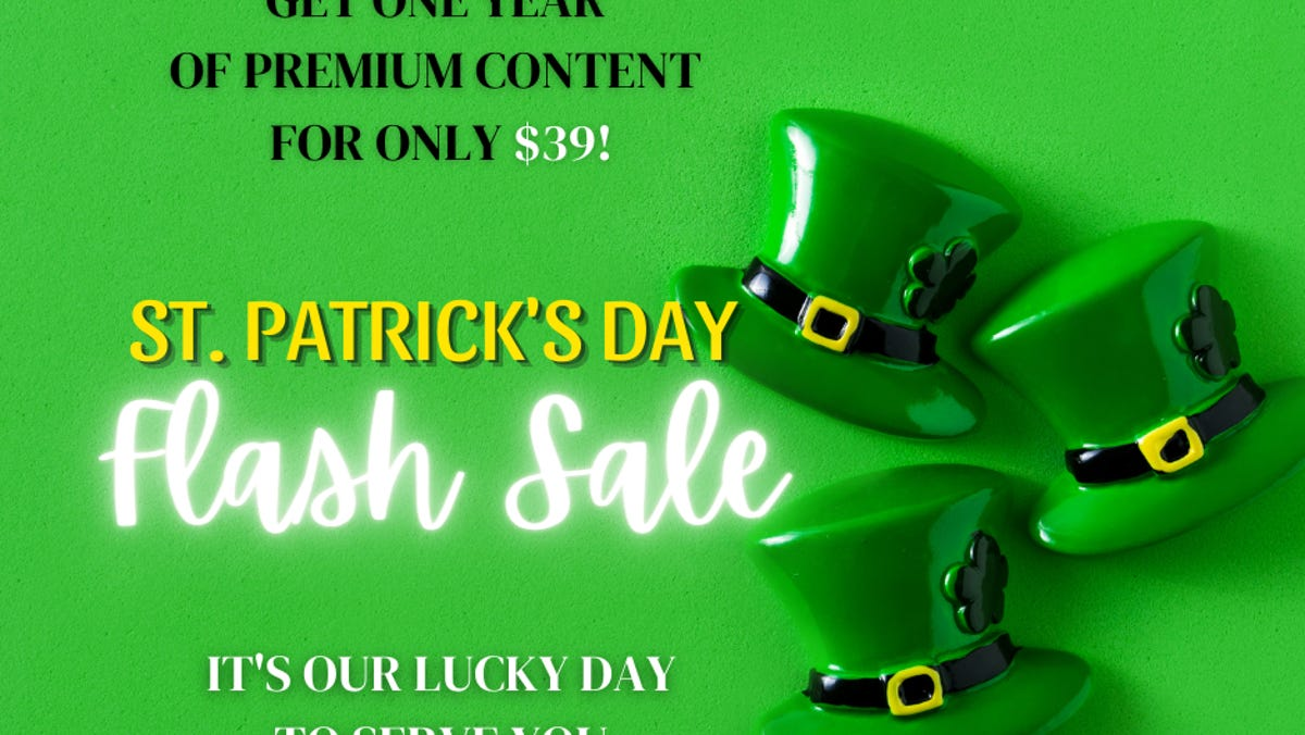 St. Patrick's Day Flash Sale: Special introductory price - $39 for 1 year 2