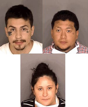 Joshua Garcia (left), Jesus Lopez and Cynthia Edeza were sentenced in connection to a 2020 shooting Friday March 12, 2021.