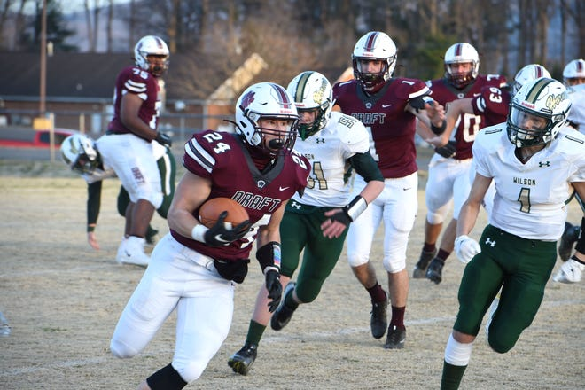 Aaron Nice will lead the Stuarts Draft rushing attack as the Cougars play Poquoson in the Class 2 state semifinals Saturday.