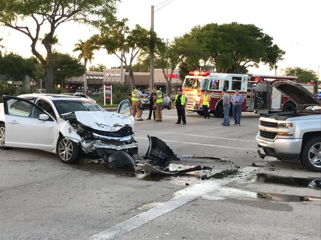 A crash on U.S. 1 at 15th Place around 5:20 p.m. Friday sent two people to hospitals and led to a Vero Beach Police Department investigation that closed a stretch of northbound lanes for hours.