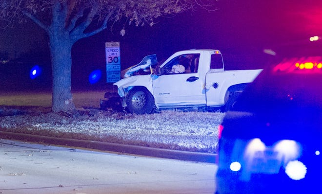 Wichita Falls police worked the scene of a single vehicle accident Saturday around 1 a.m. on Missile Road.