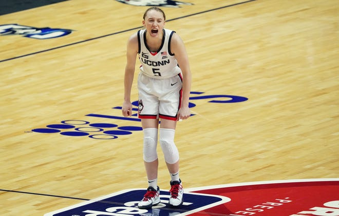 Connecticut freshman guard Paige Bueckers is a candidate for national player of the year.