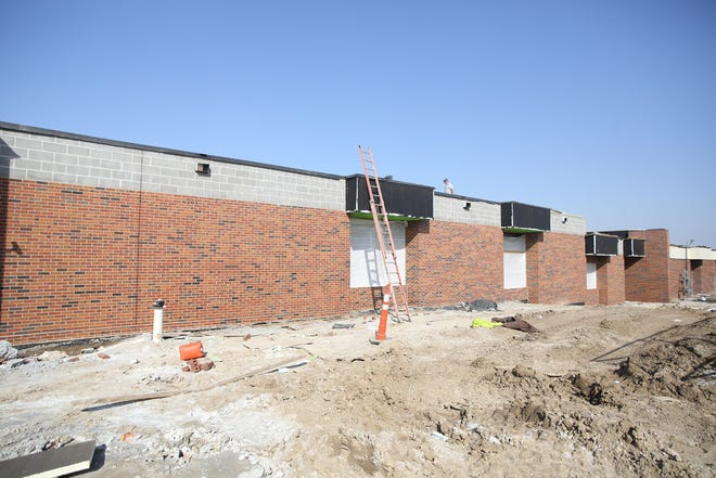The new addition between Boonville High School and B-Tech will feature six classrooms along with new restrooms for the gym and a trophy display case.