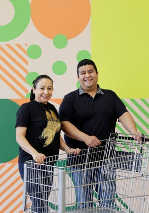 Gustavo Salazar will open his expanded Latino grocery store La Plaza Tapatia at a new location across the street from the casino on Wednesday. His sister, Lulu Salazar, will work at the store in an administrative role.
