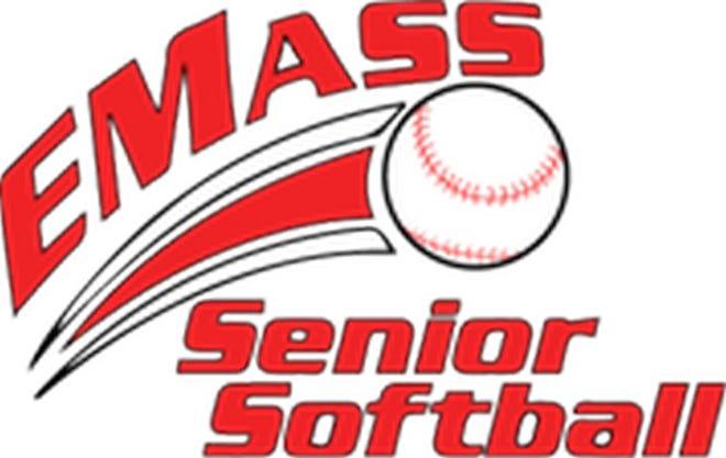 The logo for the EMASS Senior Softball League.