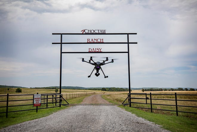 The Choctaw Nation's drone ranch in southeastern Oklahoma.