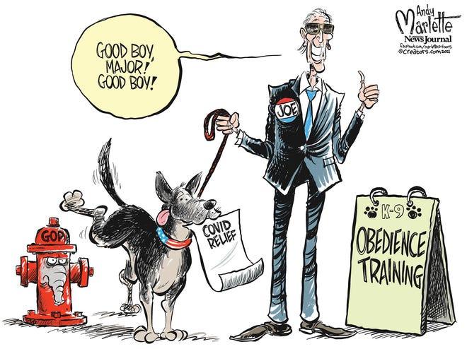 President's dog does a good job.