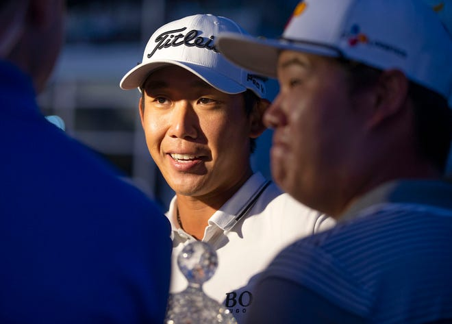 Albin Choi, who was the caddie (and interpreter) for last year's Honda Classic winner, Sungjae Im, is trying to qualify for this week's event at PGA National.