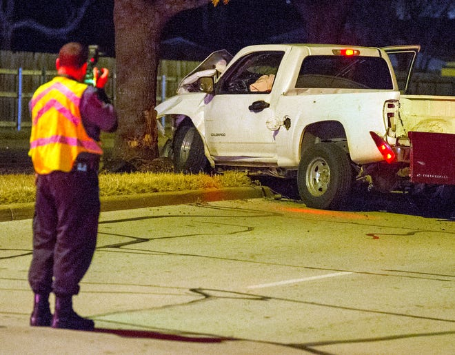Wichita Falls police worked the scene of an accident Saturday morning on Missile Road.