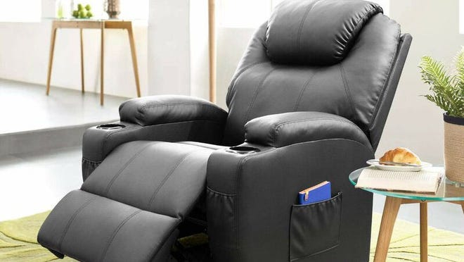 This recliner has heating and full-body massage functionality.
