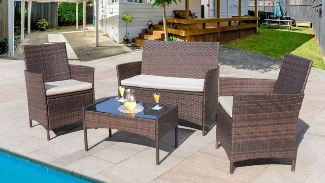 Patio Furniture Get This 4 Piece, Best Deal On Patio Furniture Sets