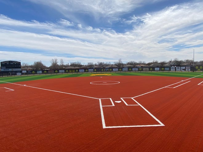 Amarillo High's softball field, which features the new turf.