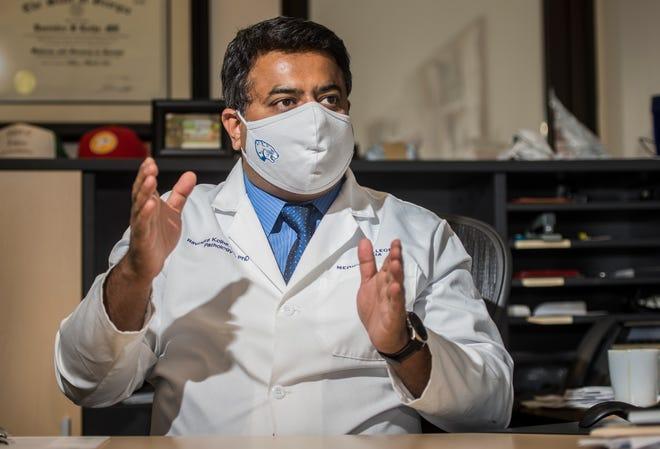 Dr. Ravindra Kolhe talks about Augusta University's coronavirus research at the Georgia Esoteric and Molecular Laboratory at Augusta University.