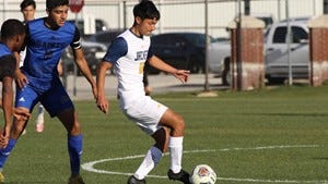 The HPU men's soccer team lost to UMHB Sunday in Belton.