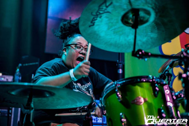 Shea Spence, drummer of The Many Colored Death
