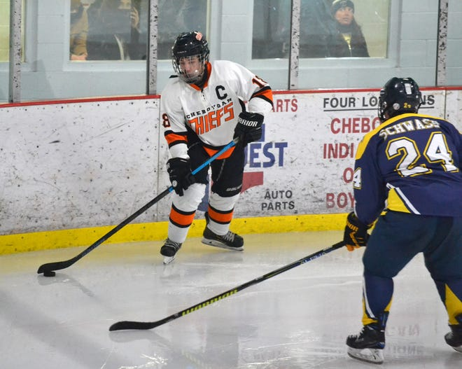 Senior defenseman Justin Horrocks scored two goals and had two assists for the Cheboygan hockey team in a victory over Lakeshore Badgers (Manistee) on Friday.
