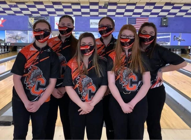 The Cheboygan varsity girls bowling team recently captured a fifth consecutive Northern Michigan Bowling Conference title. Members of the Cheboygan team include Morgan Jones, Izzy Portman, Zoey Bur, Jenna Knaffle, Jenna Webber and Izzy Taylor. Cheboygan finished 7-0 during the league campaign. The Chiefs are coached by Brian Taylor.
