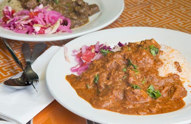 Chicken biriani and Beef Pilau at Riziki Swahili Grill