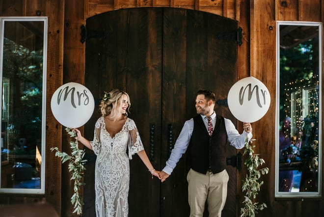 Kaylee and Nick England at their July 2020 wedding