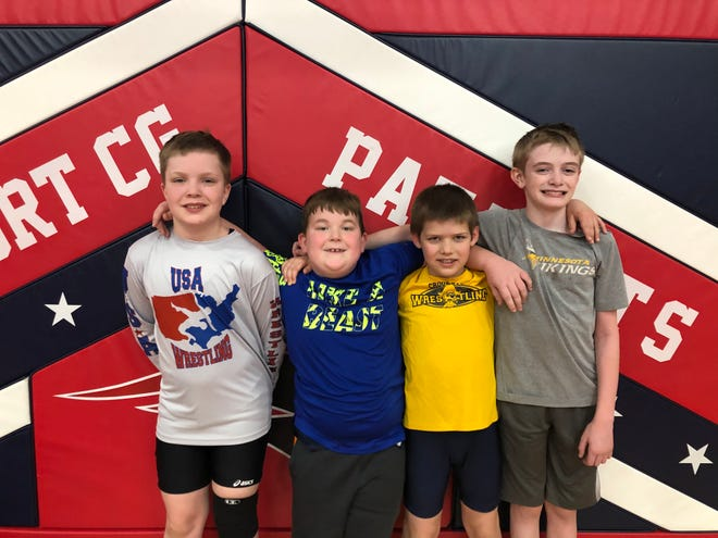 From left to right: Jaron Knutson, Oliver Wallace, Levi Kresl and Christopher Goodrich.