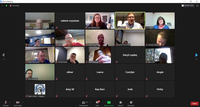 A screenshot of the Chippewa Local Schools Board of Education meeting, which took place via Zoom Monday evening.