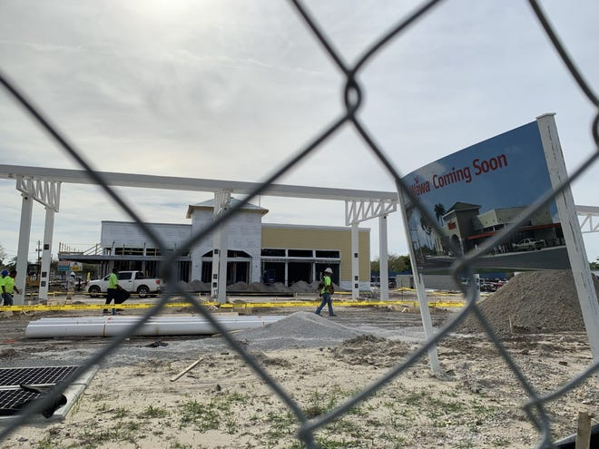 This Wawa gas station/convenience store is taking shape at the corner of Mason Avenue and Nova Road in Daytona Beach on Saturday, March 13, 2021. It is on track to open in July with another one on West International Speedway Boulevard, across from Daytona International Speedway, set to open in September, a company official says.