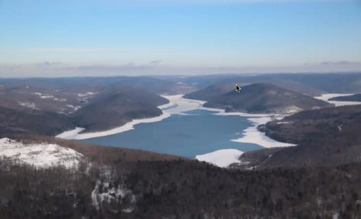 Cannonsville Reservoir, Delaware County, NY is on the West Branch of the Delaware River.