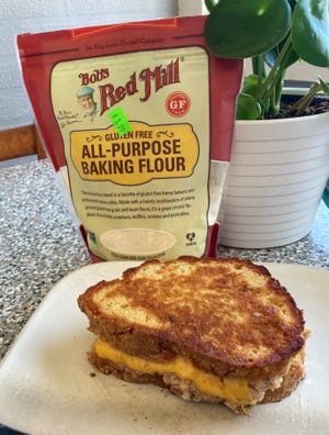 This fresh, gluten-free bread makes a wonderful toasted sandwich, like this tuna melt shown here.