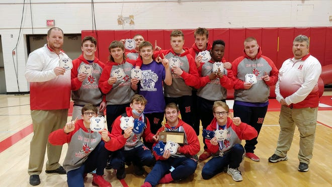 The Section V Class B1 Wrestling Champions, the Hornell Red Raiders.