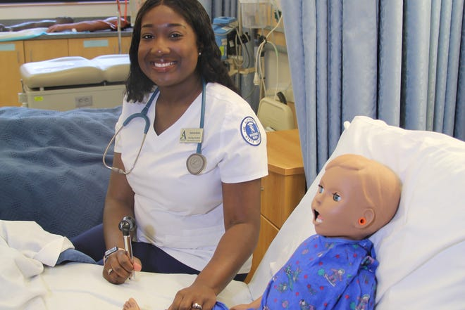 Alfred State College is grateful for the ongoing support of TheBethesdaFoundation of Hornell, which awards $15,000 annually to the college to utilize for scholarships for nursing students who live in the surrounding communities. Pictured is Valerie Davis, one of the nursing students who received aBethesdaFoundation scholarship during the 2019-2020 school year.