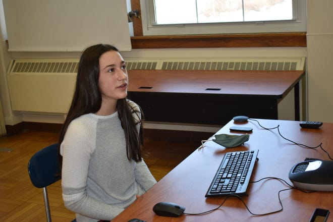 Poland Central School District eighth-grader Maddison Haver presents her Poland Science Fair project virtually to a panel of judges