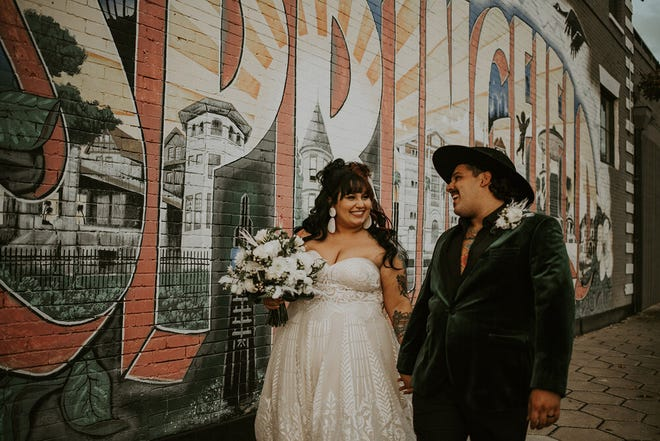 "Delia McCall and Daniel ""DJ"" Large didn't let the coronavirus pandemic stop them from having their dream wedding. The couple discussed how the pandemic impacted their relationship."