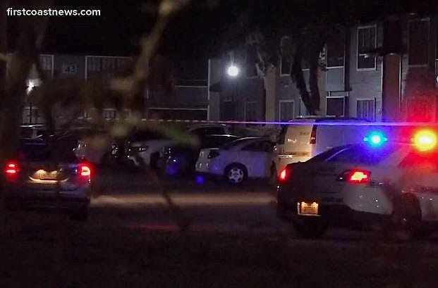 Police investigate a Sunday shooting at the Evergreen Clube apartments off Southside Boulevard.