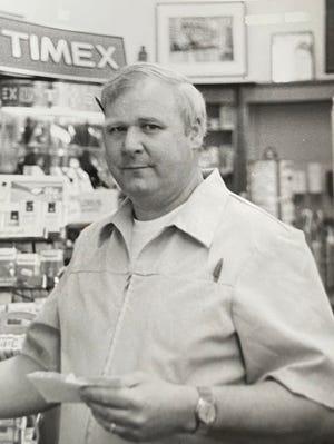 Stuart C. Leroy Jr. in the Brentwood Pharmacy he owned.