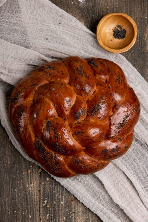 Buns Bakery gives classic challah a twist with their onion-and-poppyseed-infused Poppin' Holla!