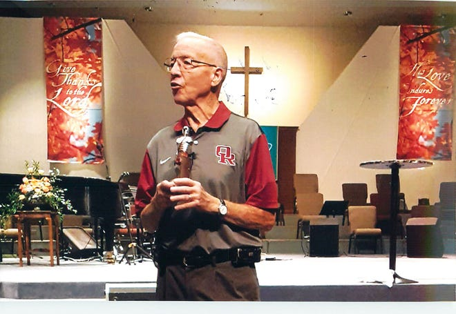 Former Oak Ridge High School football coach Emory Hale speaks at Central Baptist Church on Oct. 22, 2020. He came back to Oak Ridge to celebrate the 40th anniversary of the 1980 State Football Championship.