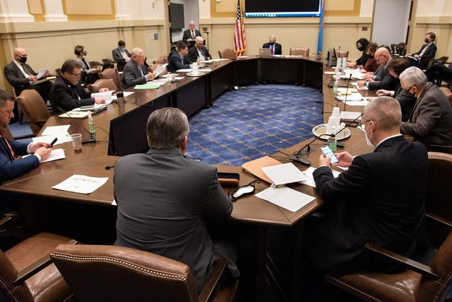 The Senate Public Safety Committee met Feb. 22 and debated hotly contested gun bills with no opportunity for public comment.