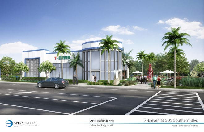 The historic bank building on Southern Blvd. and Olive Avenue is being turned into a 7-Eleven convenience store.
