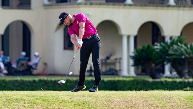Erik Compton, teeing off at a Web.com Tour event in Lafayette, Louisiana in 2019, qualified for the Honda Classic on Monday, shooting a 7-under 65.