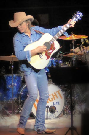 Dwight Yoakam performing at the 2008 San Diego County Fair.