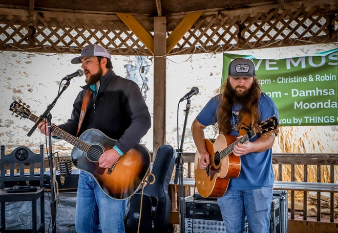 Tell Runyan was among several groups performing for the annual St. Patrick's Day Celebration in Dublin on Saturday.