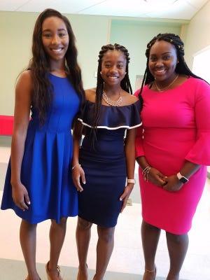 Achievers program alumnae and current college students, from left, Aliyah Cunningham, Yale University; Jaela Dennis, Florida A&M University; and Kenya Woodard, Florida International University.