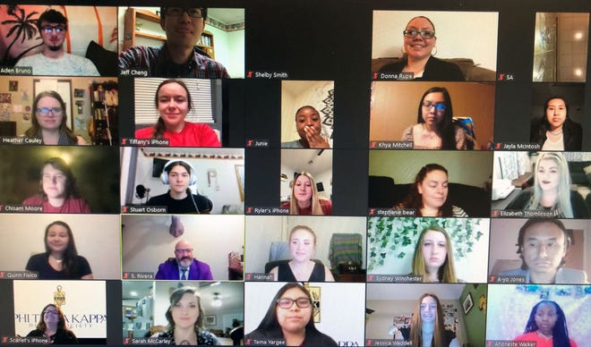 A group of 27 Seminole State College students were inducted into the Phi Theta Kappa honor society during a virtual ceremony on March 9.